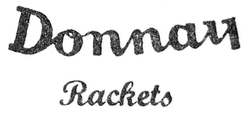 Donnay Rackets Schild